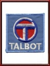 Vintage Talbot Automobiles Sew-On Patch